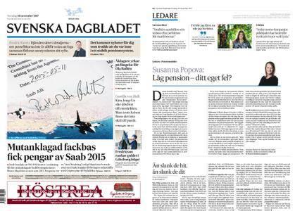 Svenska Dagbladet – 30 november 2017