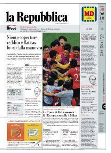 la Repubblica - 28 Giugno 2018