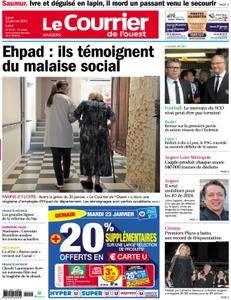 Le Courrier de l'Ouest Angers - 22 janvier 2018