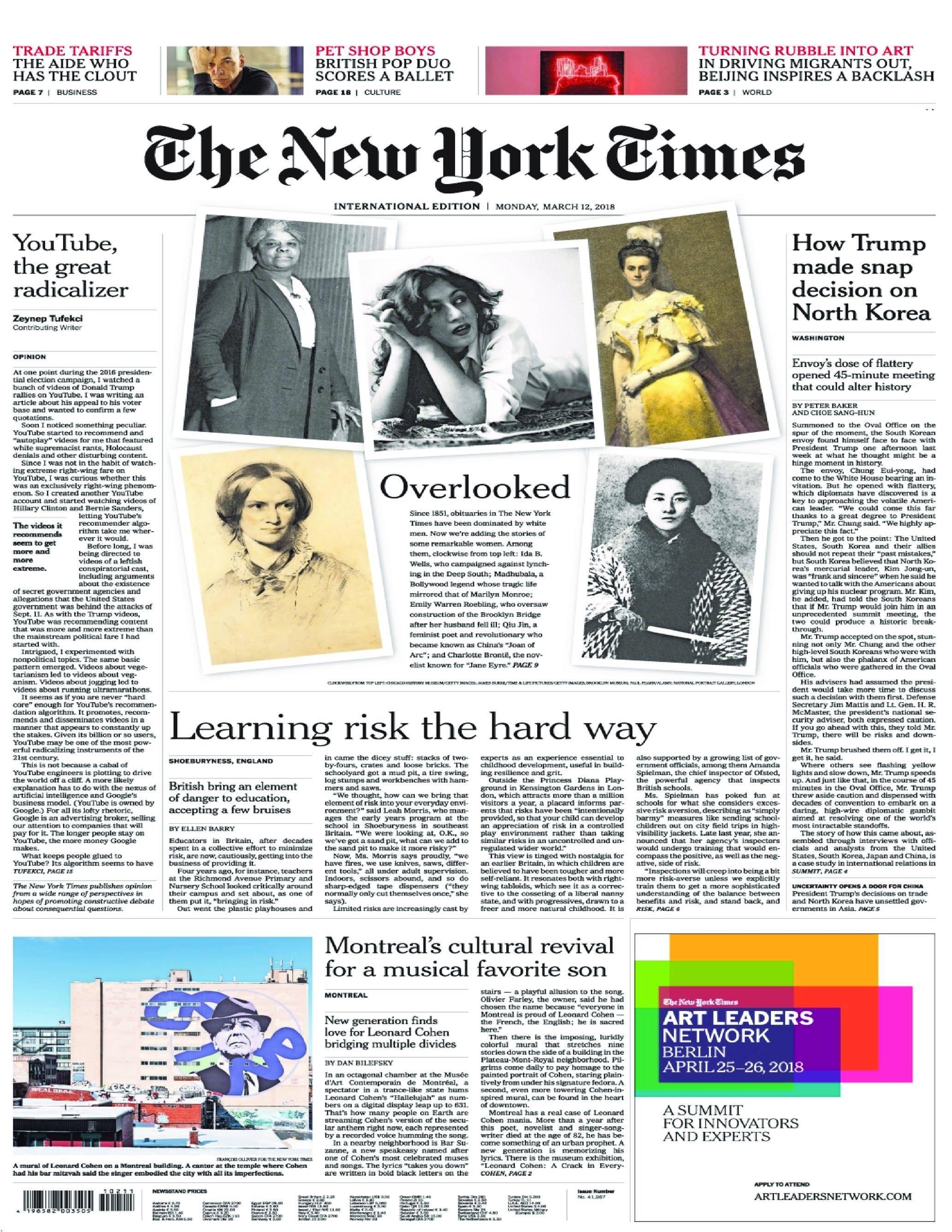 International New York Times - 12 March 2018