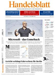 Handelsblatt - 10. Oktober 2018