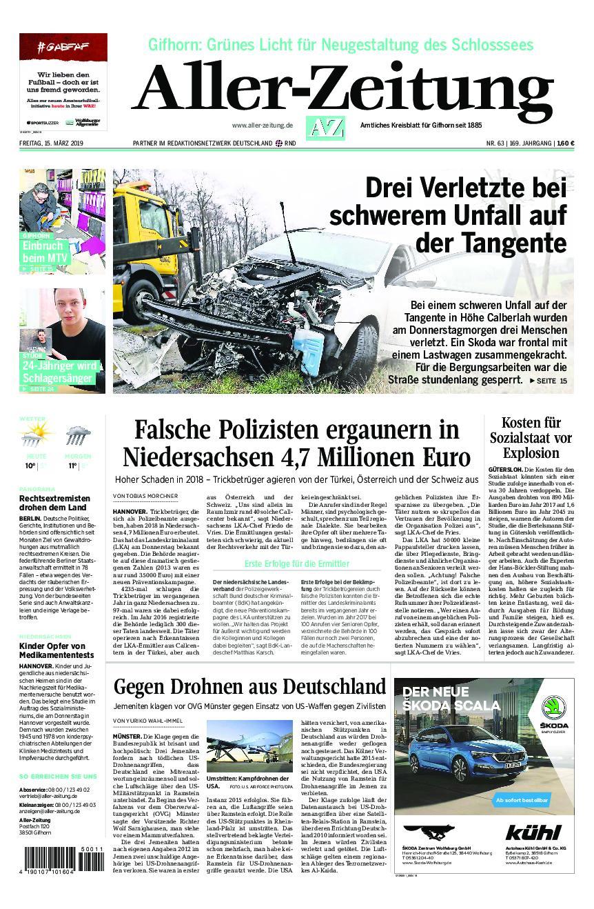 Aller-Zeitung – 15. März 2019