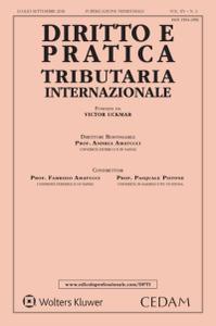 Diritto e pratica tributaria internazionale - Luglio-Settembre 2018