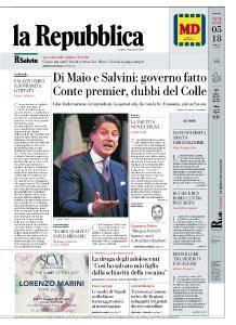 la Repubblica - 22 Maggio 2018