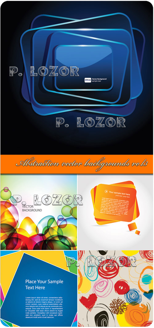 Abstraction vector backgrounds vol.3