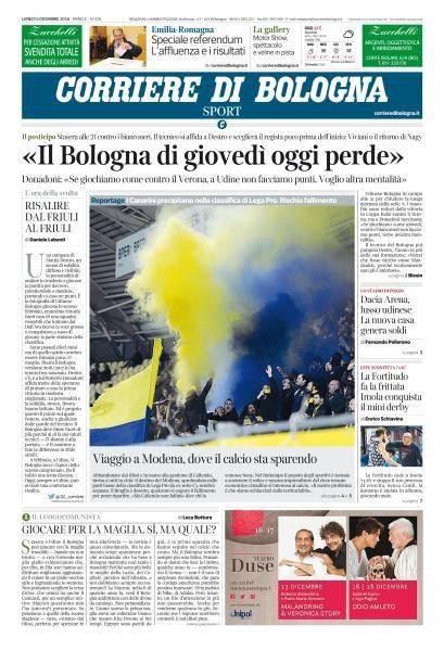 Corriere di Bologna - 5 Dicembre 2016