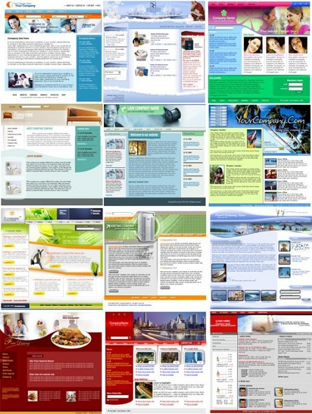 Adobe Photoshop PSD Templates - 60 Professional Web Templates