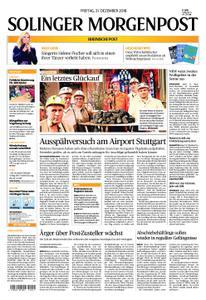 Solinger Morgenpost – 21. Dezember 2018