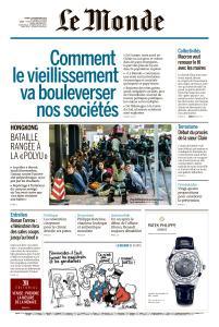 Le Monde du Mardi 19 Novembre 2019