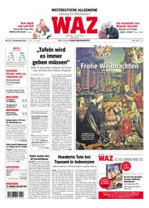 WAZ Westdeutsche Allgemeine Zeitung Oberhausen-Sterkrade - 24. Dezember 2018