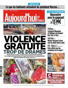 Aujourd'hui en France du Jeudi 27 Septembre 2018