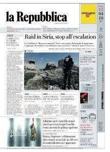 la Repubblica - 15 Aprile 2018