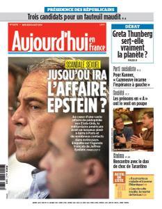 Aujourd'hui en France du Mercredi 14 Août 2019