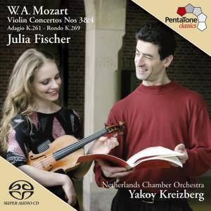 Julia Fischer, Yakov Kreizberg - Mozart: Violin Concertos Nos. 3 & 4 (2005) [Official Digital Download 24/96]