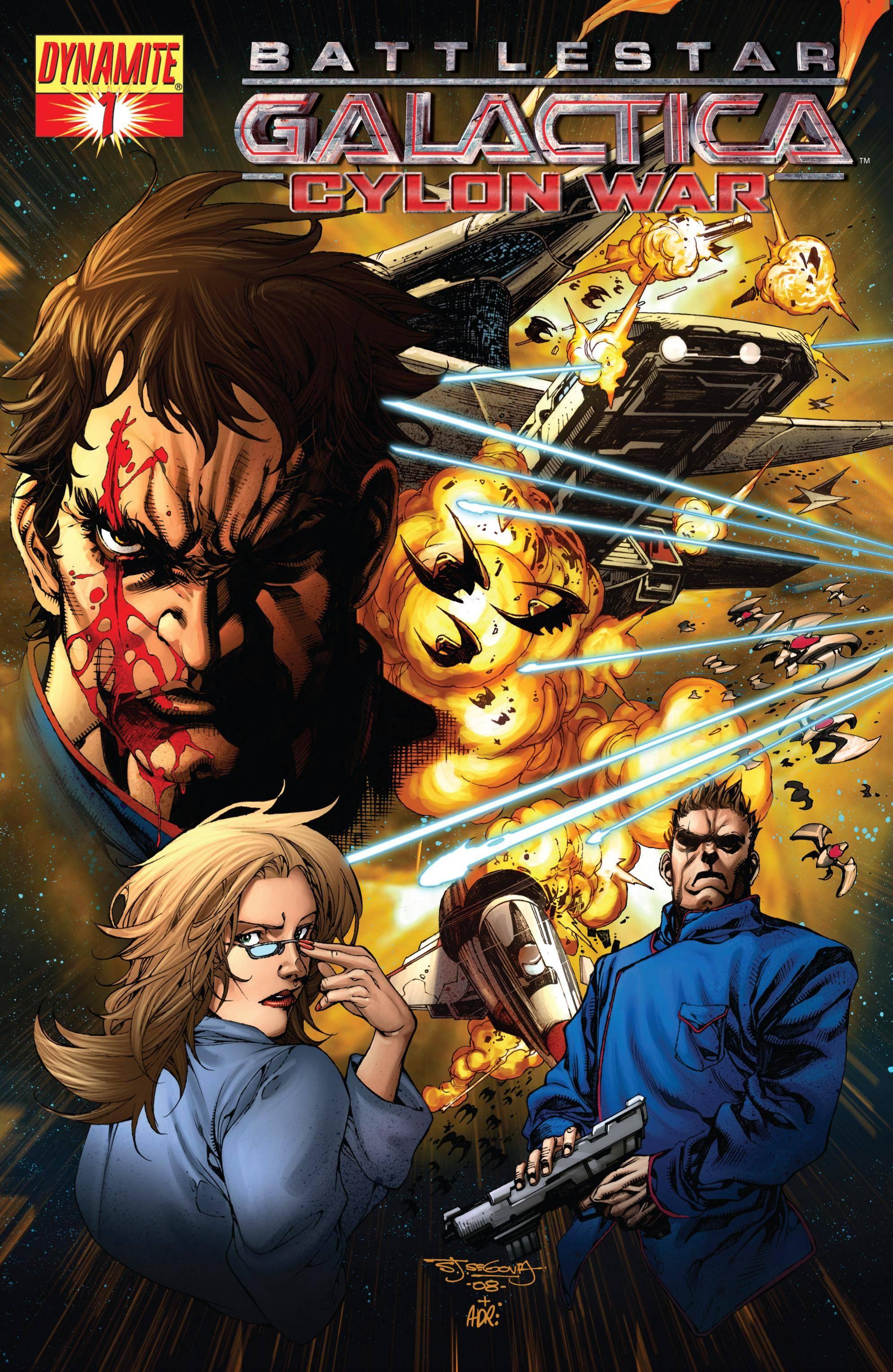 Battlestar Galactica - Cylon War 001 2009 2 covers digital