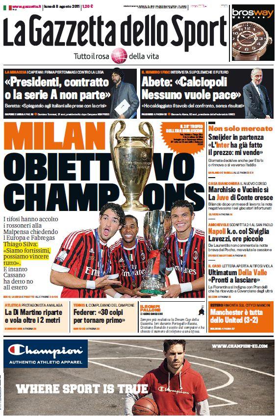La Gazzetta dello Sport (08-08-11)