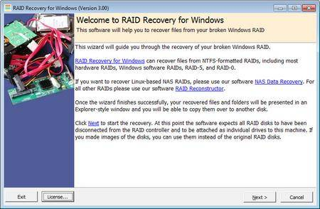 Runtime RAID Recovery for Windows 3.00