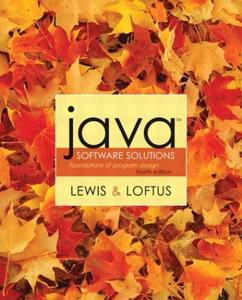Java Software Solutions - Foundations of Program Design  (4th Edition)