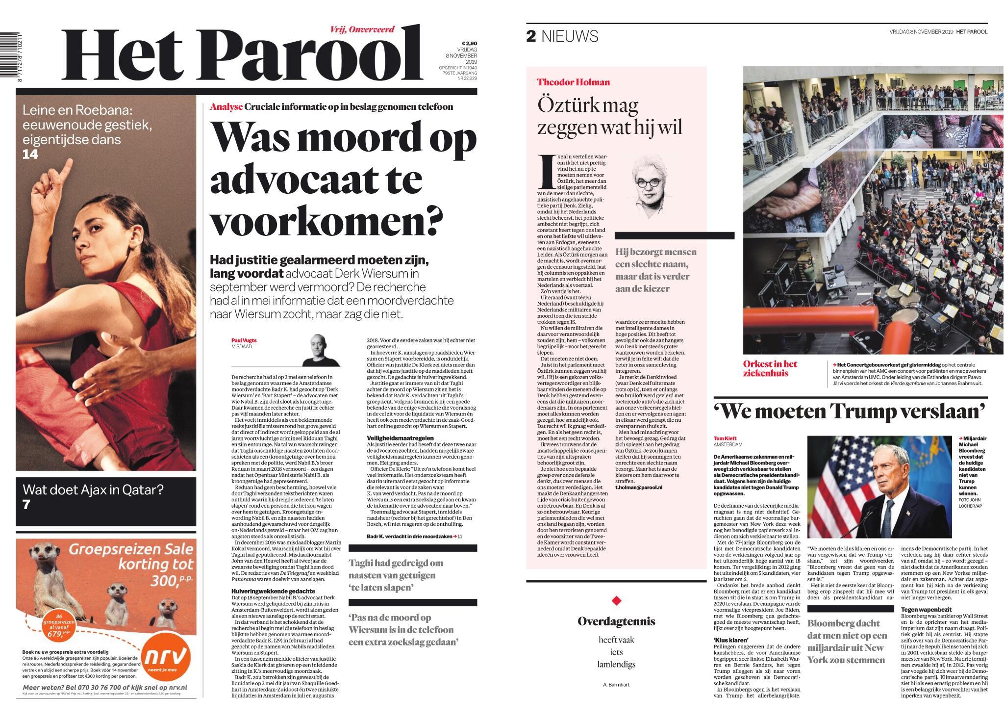 Het Parool – 08 november 2019