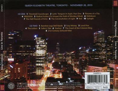 King Crimson - Live in Toronto, November 20, 2015 (2016)