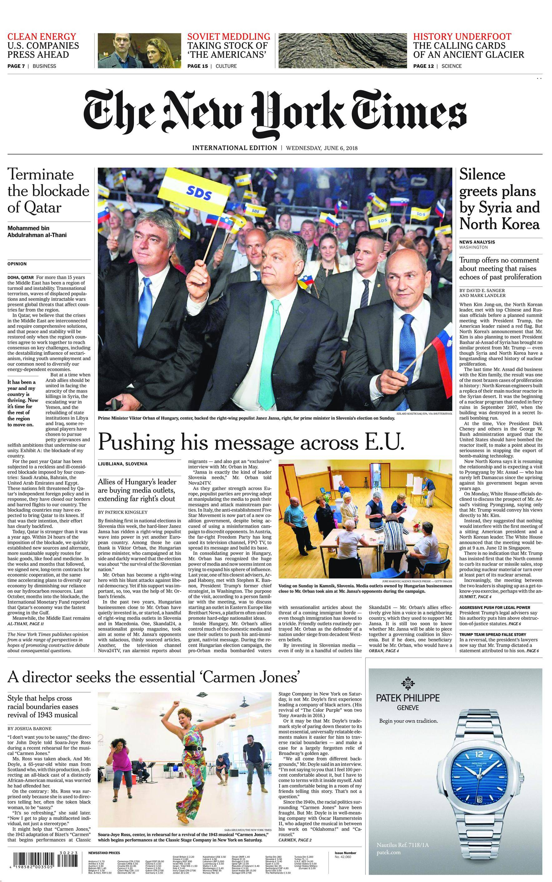 International New York Times - 06 June 2018