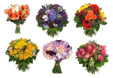 Bouquets - Clipart for Photoshop