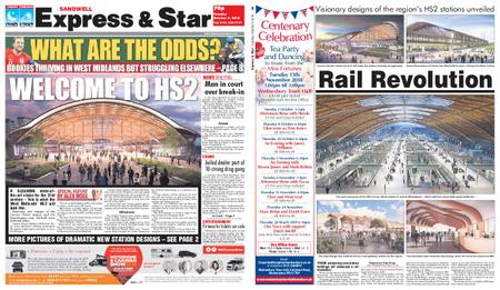Express and Star Sandwell Edition – October 09, 2018