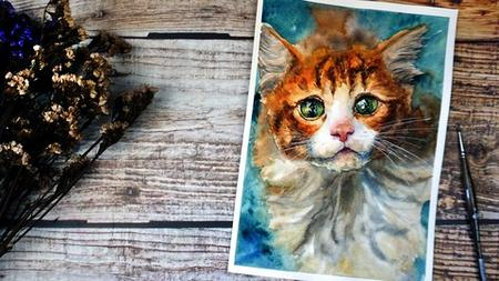 Paint a Realistic Cat in Watercolor: Inspiring Tutorial