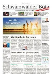 Schwarzwälder Bote Blumberg - 31. August 2018