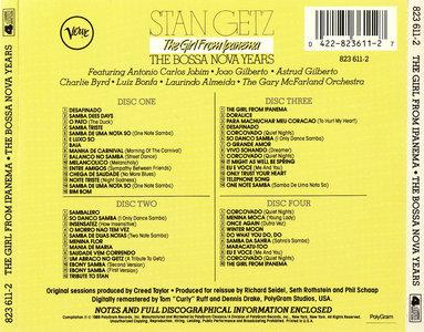 Stan Getz - The Girl From Ipanema: The Bossa Nova Years (1989) 4 CD Box Set [Re-Up]