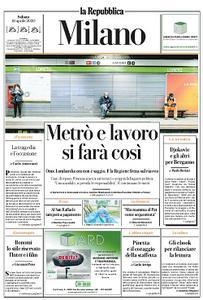 la Repubblica Milano - 18 Aprile 2020