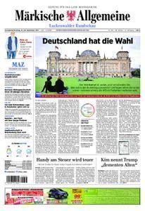 Märkische Allgemeine Luckenwalder Rundschau - 23. September 2017