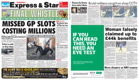 Express and Star Sandwell Edition – February 25, 2019