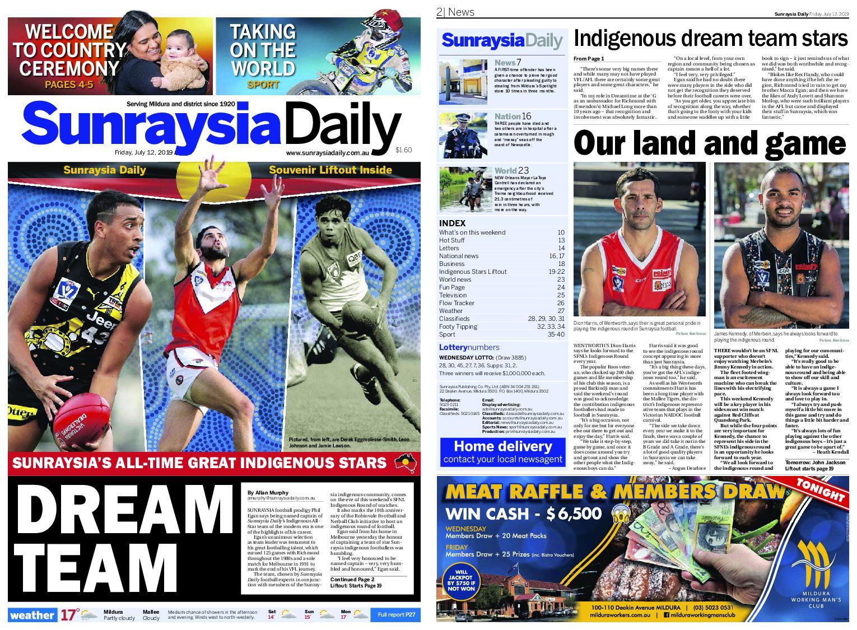 Sunraysia Daily – July 12, 2019