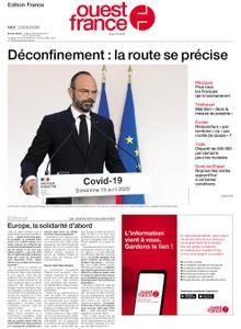 Ouest-France Édition France – 20 avril 2020
