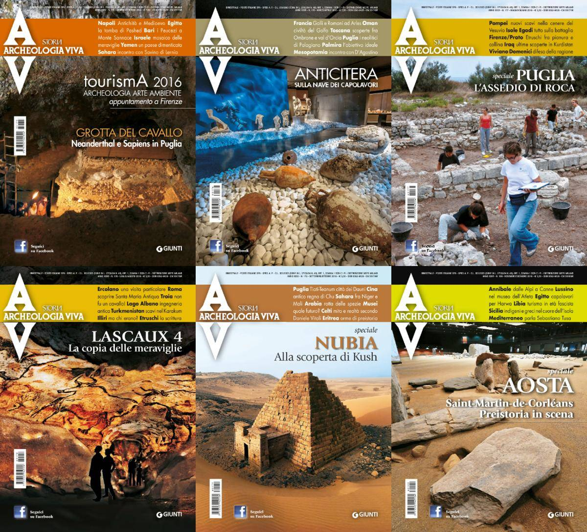 Archeologia Viva - 2016 Full Year Issues Collection