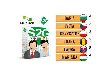 Nuance Vocalizer Expressive S2G + 6 Central European Voices Premium