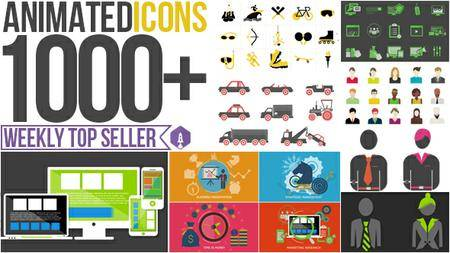 Animated Icons 1000+ - Project for After Effects (VideoHive)