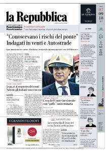 la Repubblica - 7 Settembre 2018