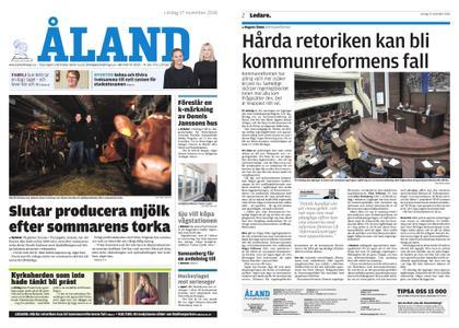 Ålandstidningen – 17 november 2018