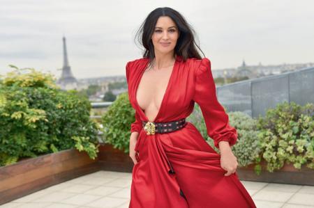 Monica Bellucci by Gilles-Marie Zimmermann for Paris Match November 2018