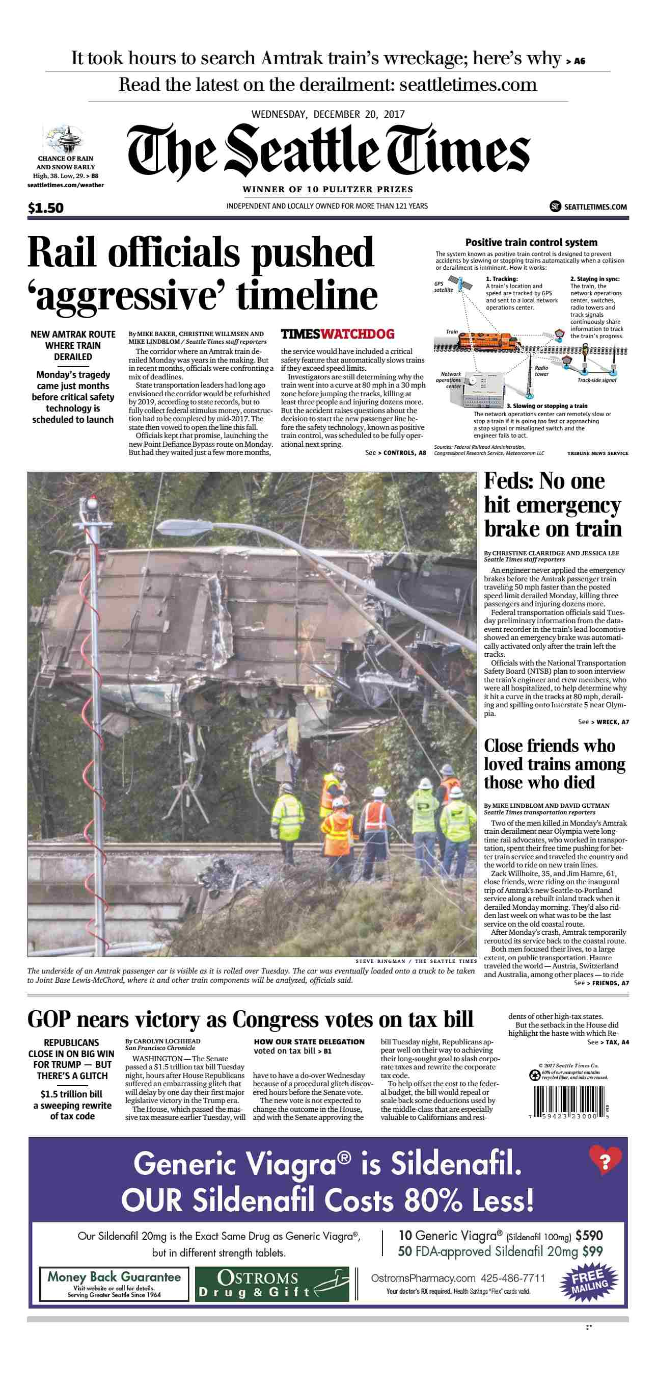 The Seattle Times  December 20 2017
