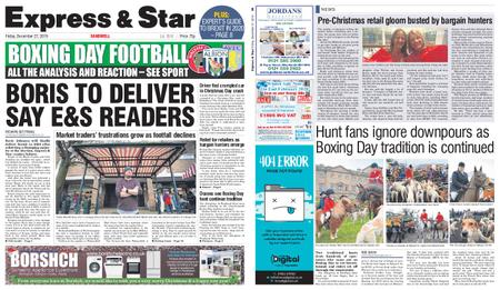 Express and Star Sandwell Edition – December 27, 2019