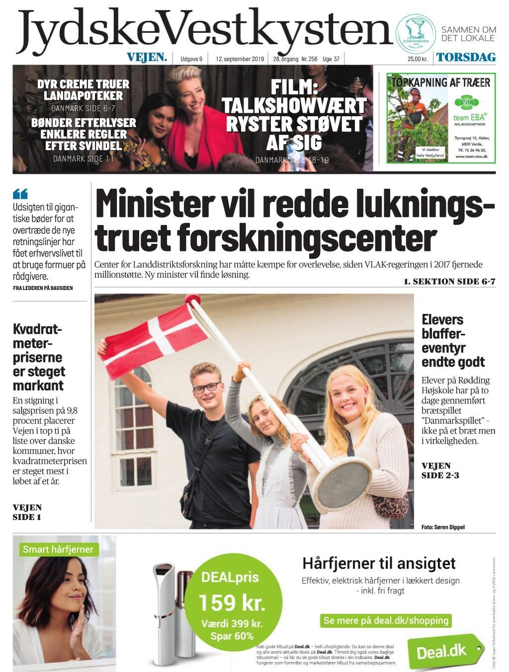 JydskeVestkysten Vejen – 12. september 2019