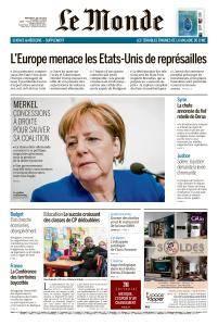 Le Monde du Mercredi 4 Juillet 2018