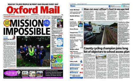 Oxford Mail – August 29, 2018