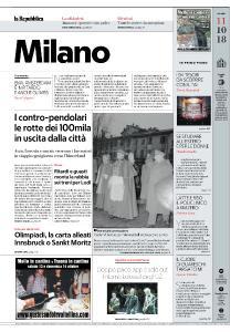 la Repubblica Milano - 11 Ottobre 2018