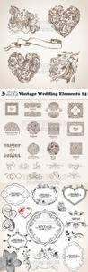 Vectors - Vintage Wedding Elements 14