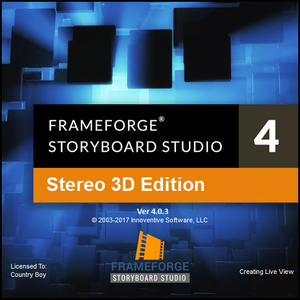 FrameForge Storyboard Studio 4.0.3 Build 11 Stereo 3D Edition