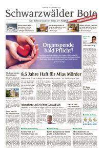 Schwarzwälder Bote St. Georgen, Triberg, Furtwangen - 04. September 2018